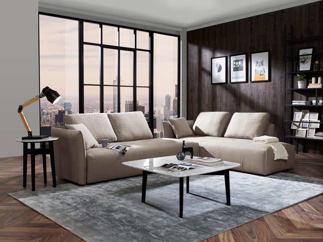 Divani Casa Polson Modern Modular Light Grey Fabric