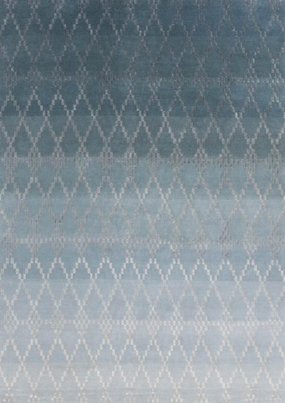 Linie Design Misty Petrol Wool Rug