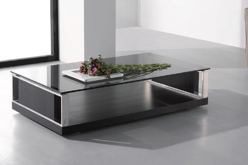 Jewel Modern Black Oak Coffee Table