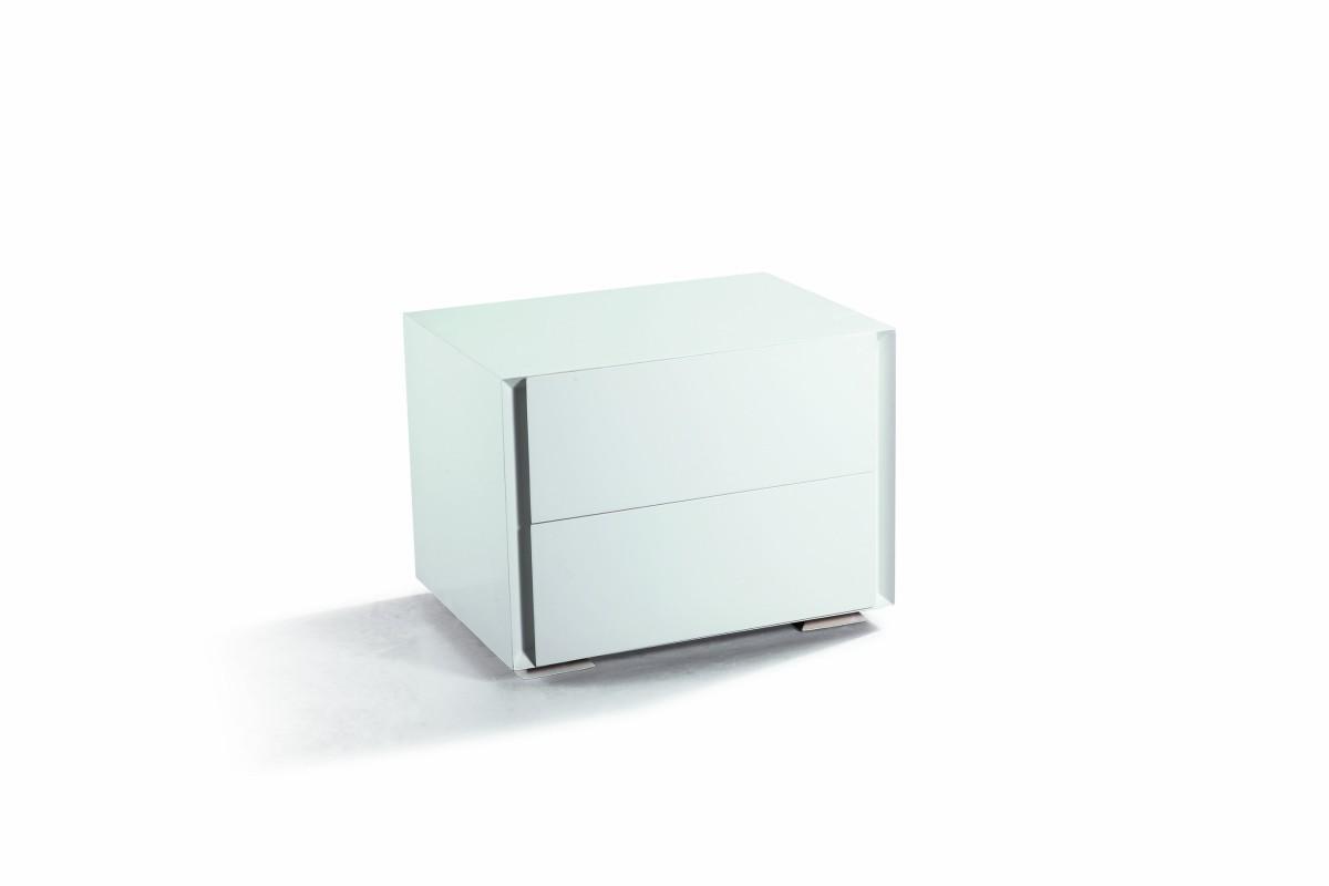 Home  N102 - Modern Glossy White Nightstand