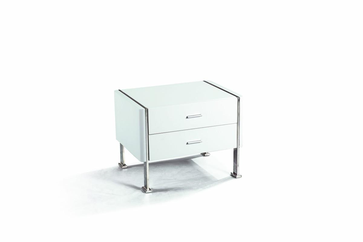 Home  N106 - Modern Glossy White Nightstand