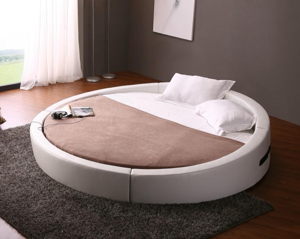round platform bed frame