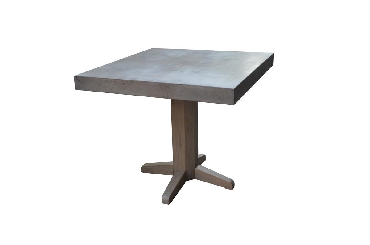 Modrest Preece Concrete Square Dining Table