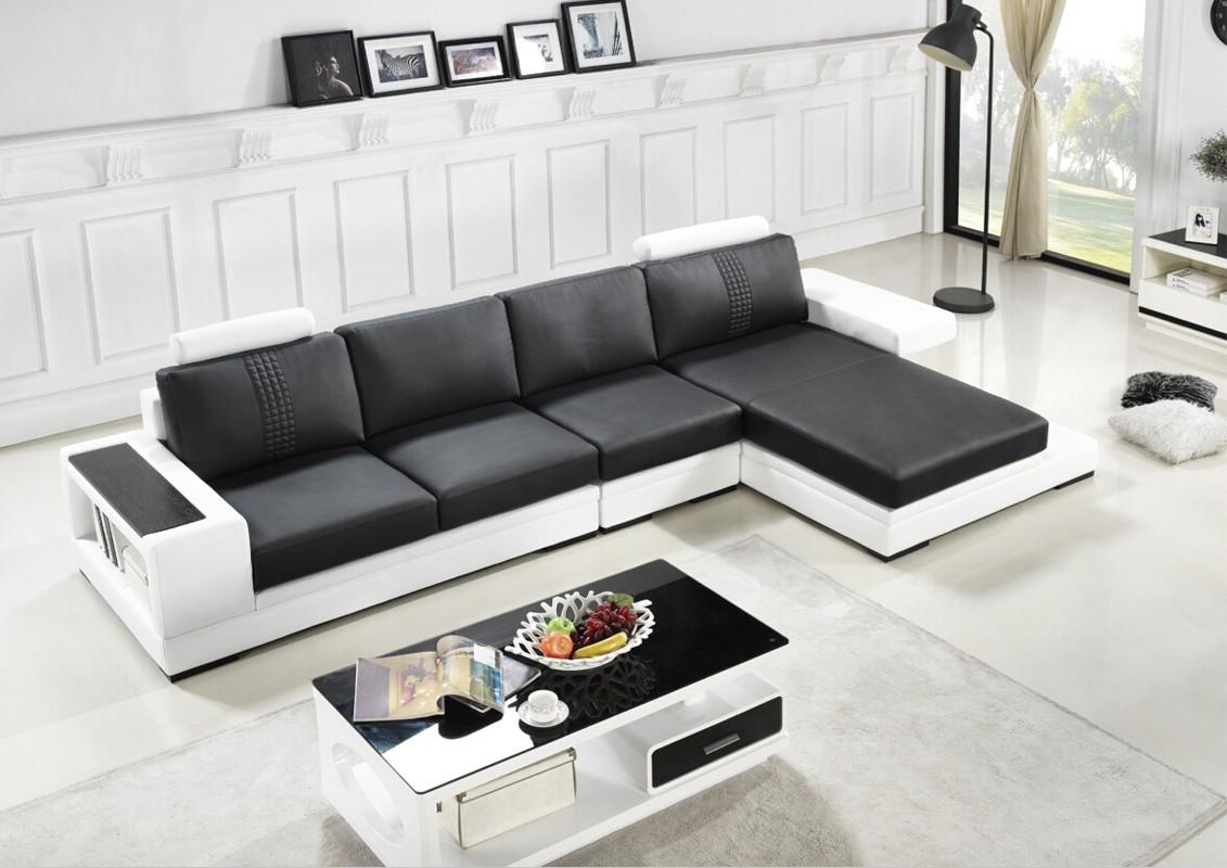 Divani Casa T701 Modern Black White