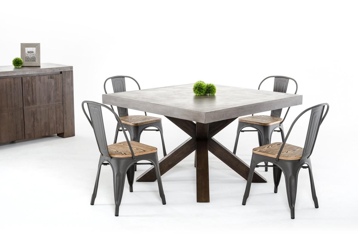 modrest urban concrete square dining table concrete kitchen table More Views