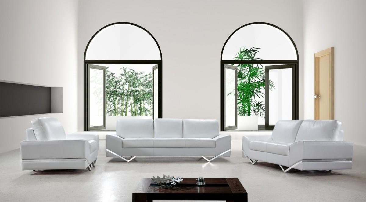 Vanity White Modern Sofa Set