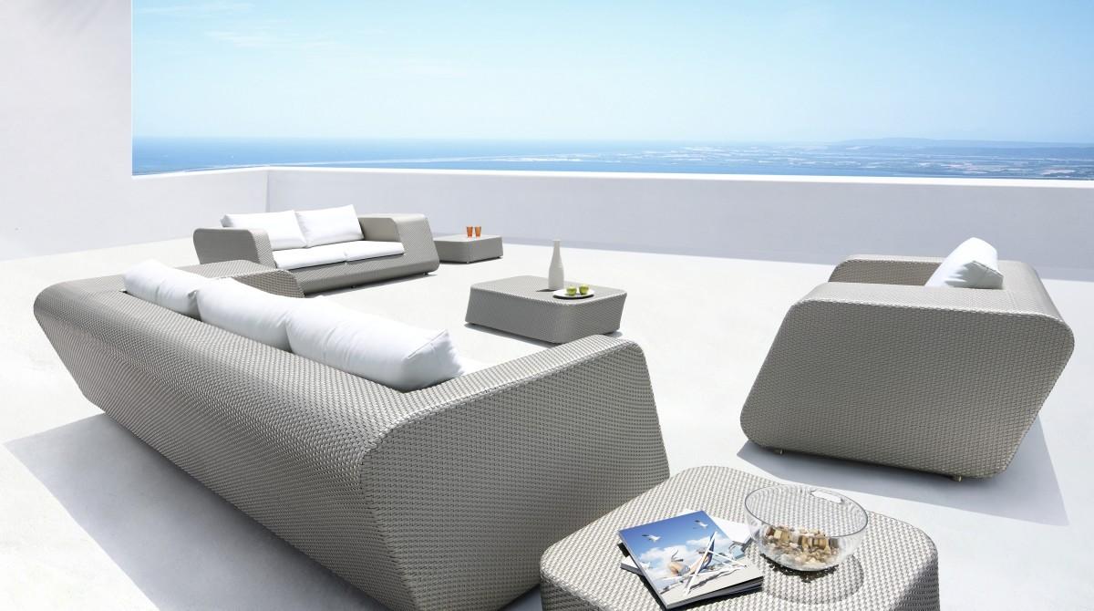 Morocco Modern Grey 6 Piece Patio Set