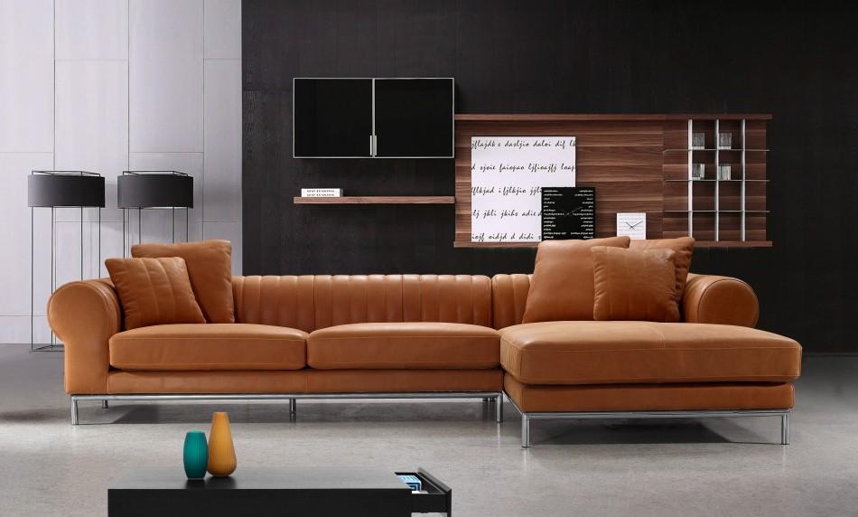 Modern Full Leather Sectional Sofa - 1004 : full leather sectional - Sectionals, Sofas & Couches