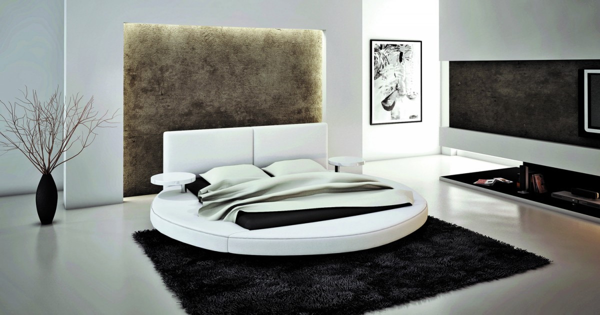 Soft Bed Modern Transitional Upholstered Beds in EcoLeather