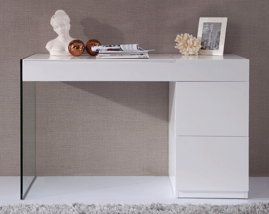 volare modern white floating vanity - Modern Console Tables
