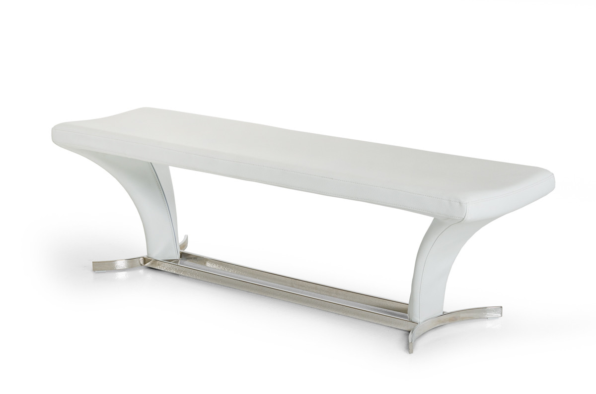 we sell a variety of dining benches - modrest arvin modern white dining bench