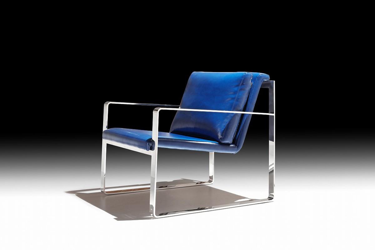 Delicieux Divani Casa Apex Modern Blue Leatherette Accent Chair