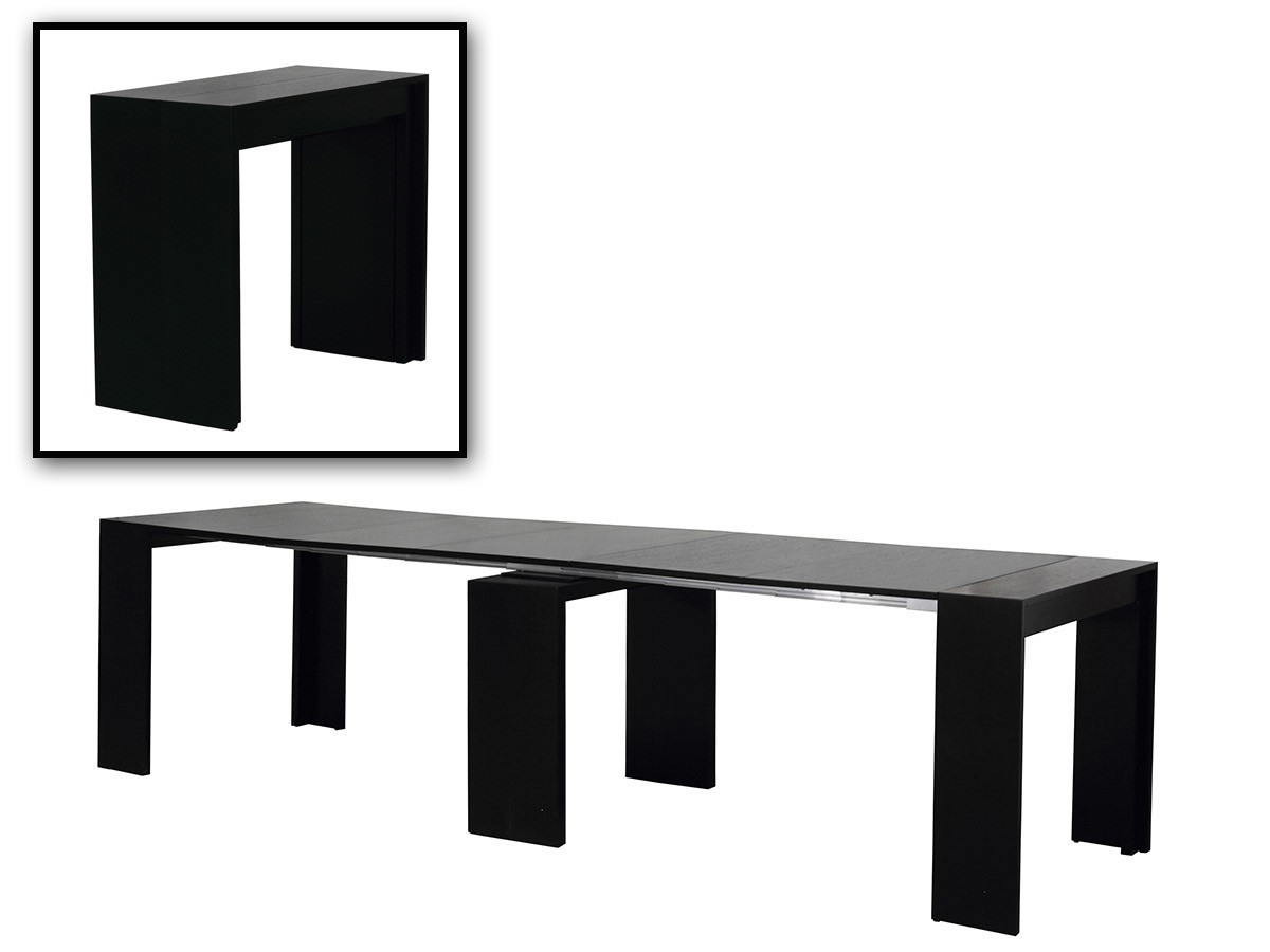 Morph Modern Ultra Compact Extendable Black Dining Table
