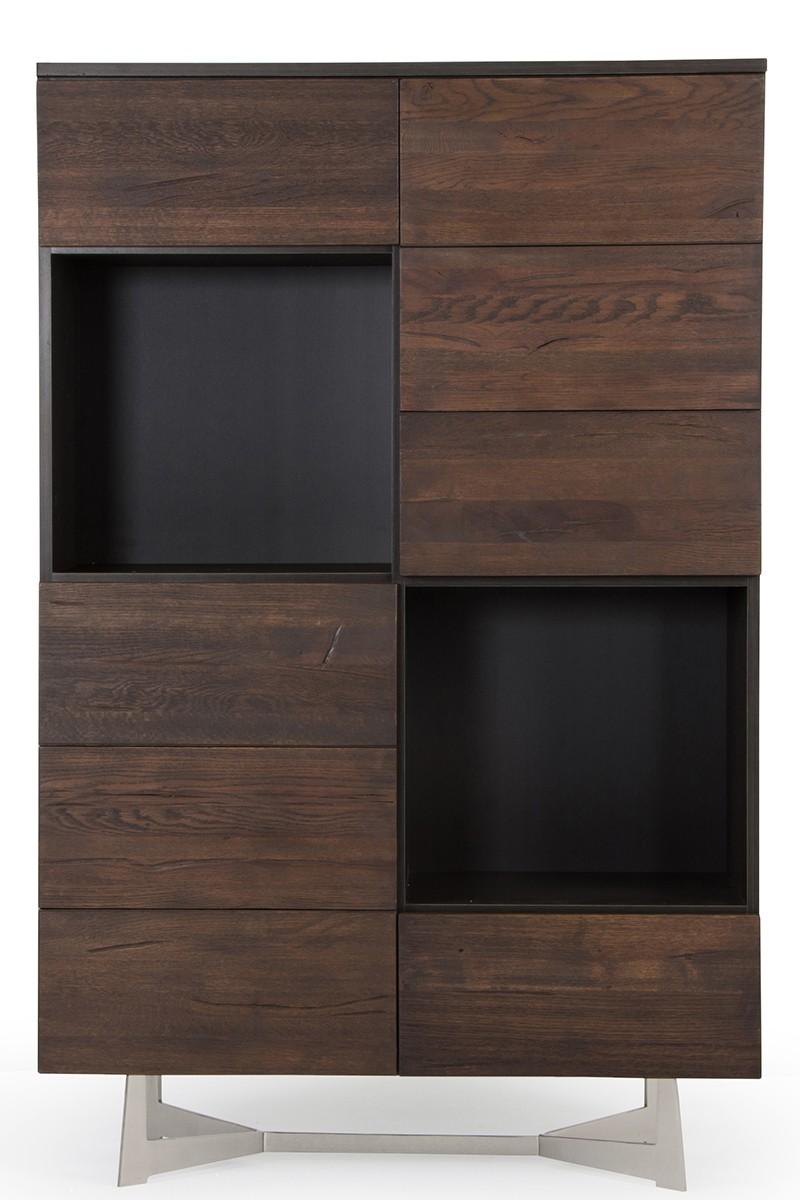 Modrest Wharton Modern Dark Aged Oak Tall Buffet