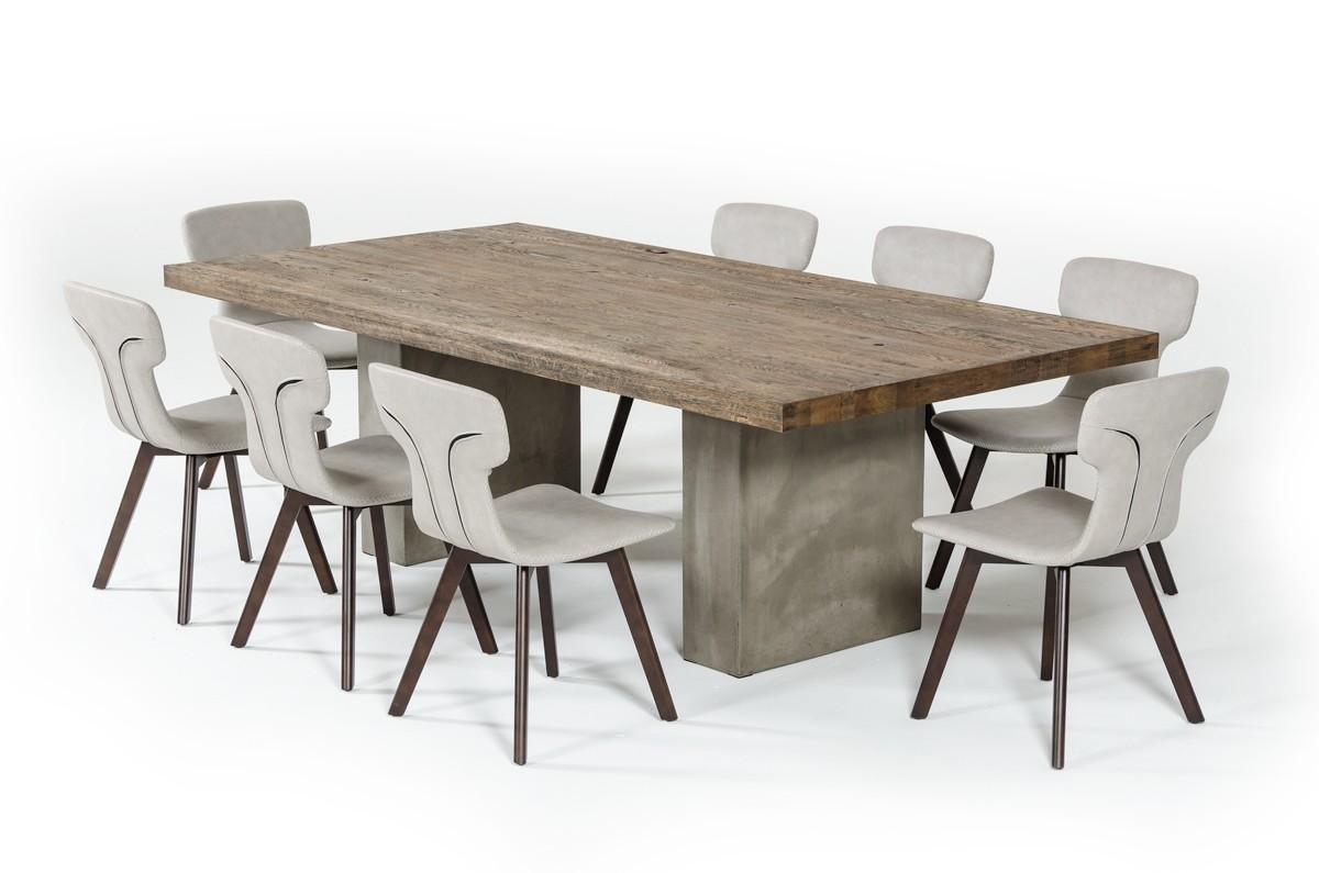 Modrest renzo modern oak dining table