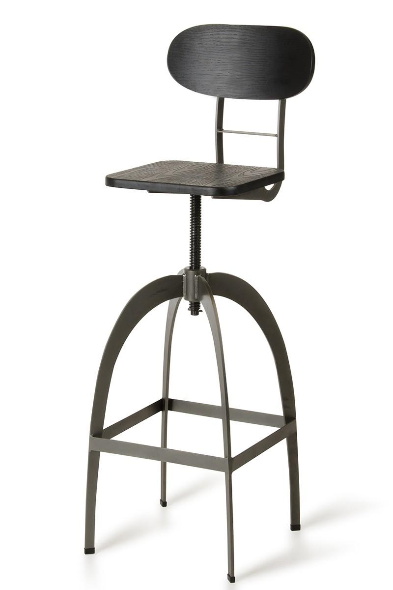 modrest elgin modern black u0026 gun metal bar stool